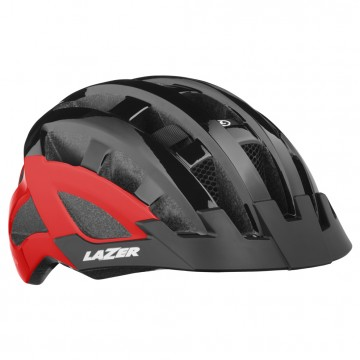 Kask LAZER Petit DLX Black Red + LED